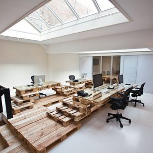 Recycled Pallet Office Design With Wood Palette Furniture Design