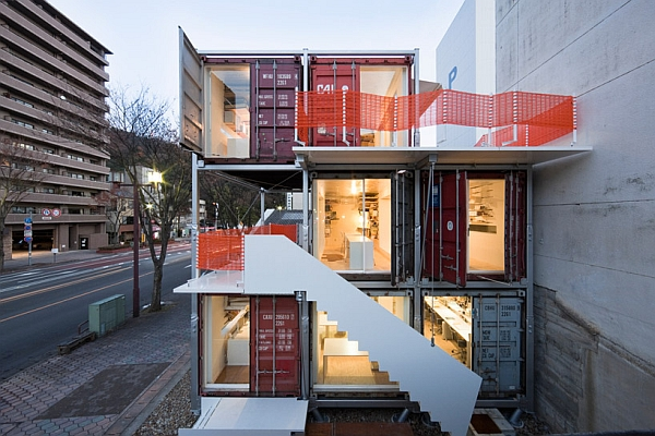 Shipping Container Studio Sugoroku Creative Green Office Design