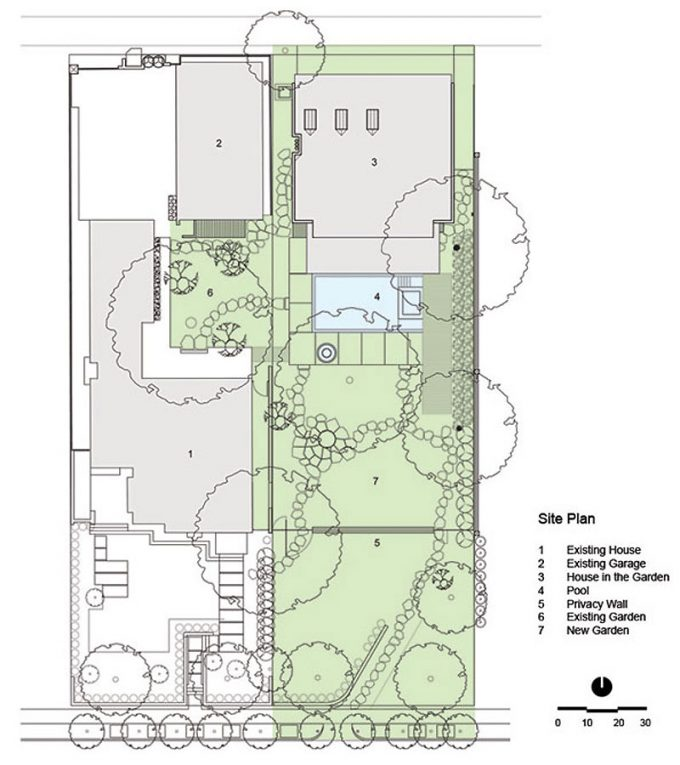 Site Plan Of House In The Garden By Cunningham Architects