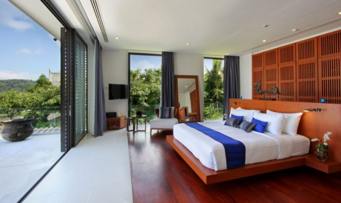 Tropical Asian Bedroom Design With Woodenaccent And Modern Interior Design