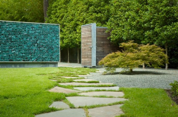 Wooden Gate Design With Tree Surround The House