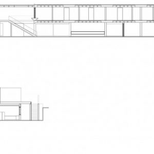 Sections Of Slope House With Hills House Design