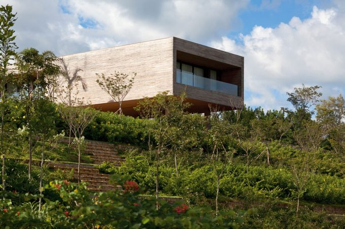 Sloping Landscape Design Ideas For Modern Hill House Design And Eco Friendly House Design
