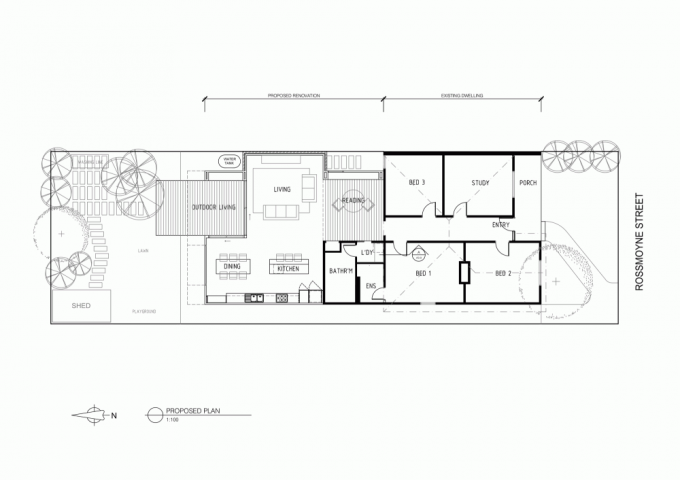 The House Plan Of Contemporary Wood House Addition