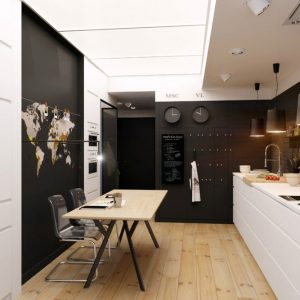 Amazing Small Kitchen Design Ideas With Black Wall And White Kitchen Countertops Also Eat In Kitchen Table