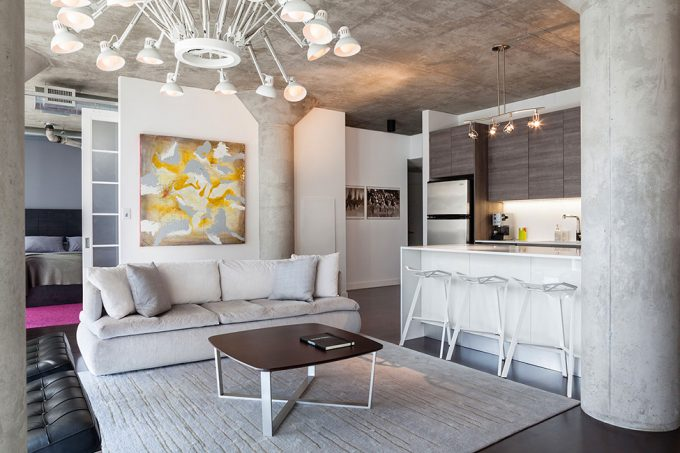 Apartment Modern Interior With Idustrial Room Renovation Idea Using Modern Furniture And Minimalist Design