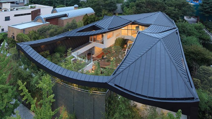 Awesome Irojekhm Gaonjai Db View From Above With Korean Roof Design And Garden Design