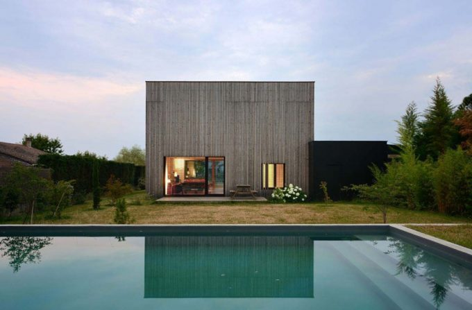 Beautiful Evening View Tectoniques Architects With Prefab Villa Design And Cool Pool