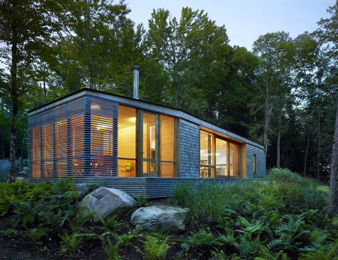 Beautiful Natural Stealth Cabin View Surrounded By Green Environtment