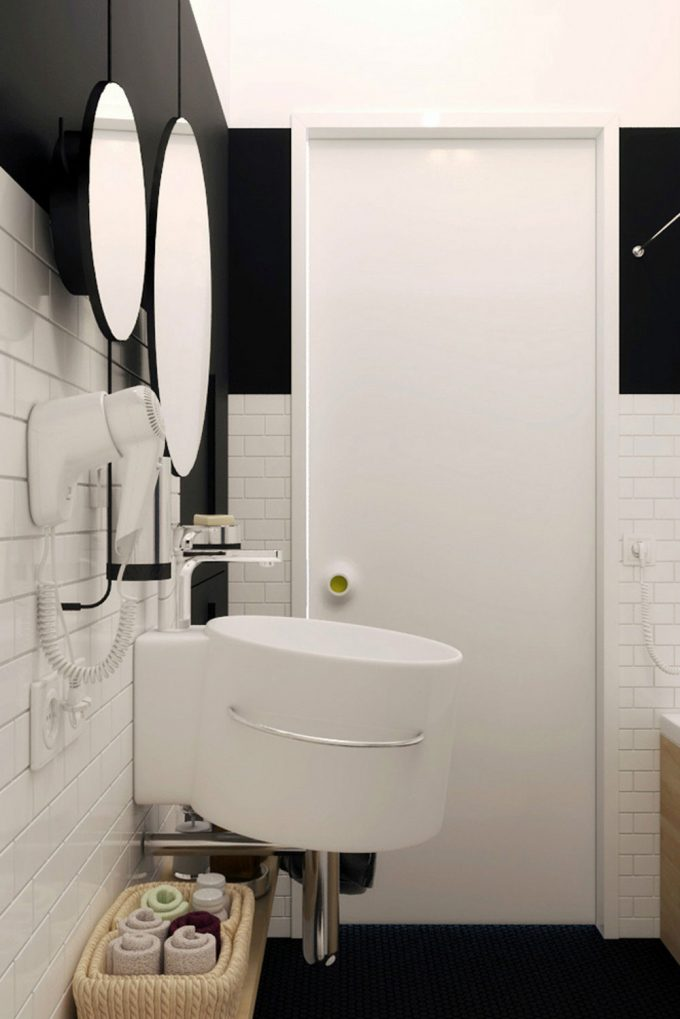 Cool Erspective Black Ans White Bathroom Perfect Design For Small Apartment Design