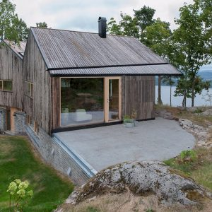 Detached Wooden House Is Sustainable House Using Wood Fir Exterior Also Cantilever House Design