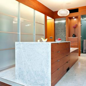 Drawers With Marble Framed And Bathtub Also Frosted Glass Wall