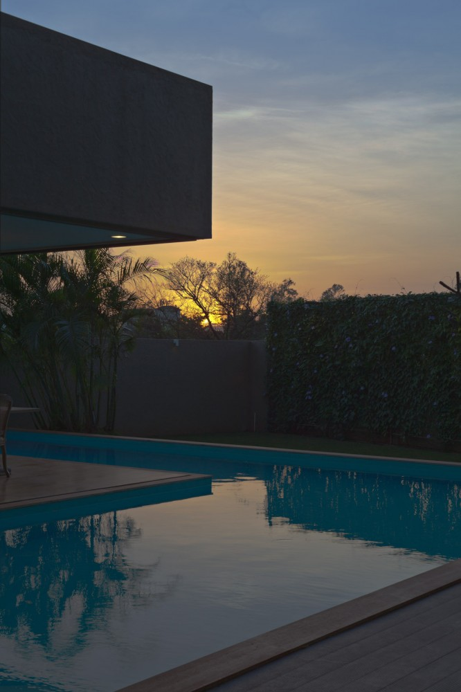 Evening At Dusk Monsoon Retreat With Sunset View From Infinity Pool Angle