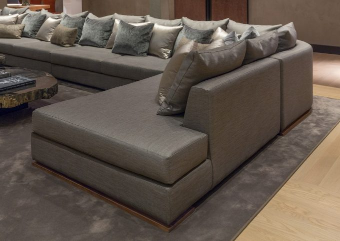 Extraordinary Brown Sofa Using L Shape And Long Design With Lots Thows