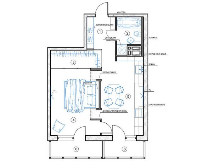 Floor Plan For Minimalist Apartment Design