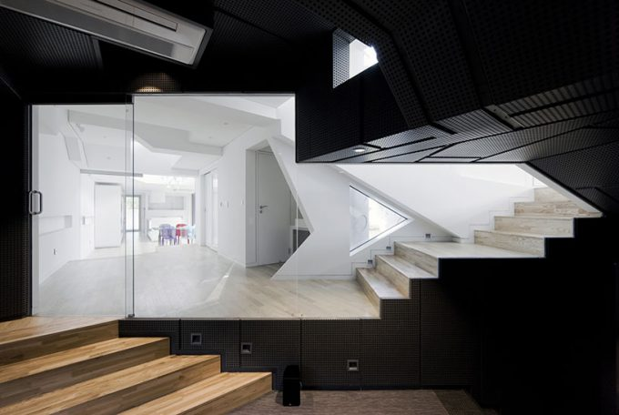 Great Dark Inner Staircases With Stairs Storage And Wood Stairs Also Sharp Cut Interior Design