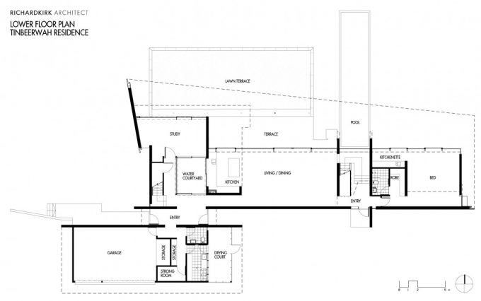 Plan Of Holiday Residence Design