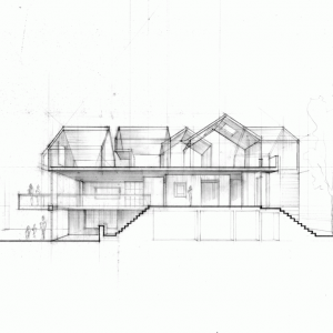 Section Of The Tow Face House Design