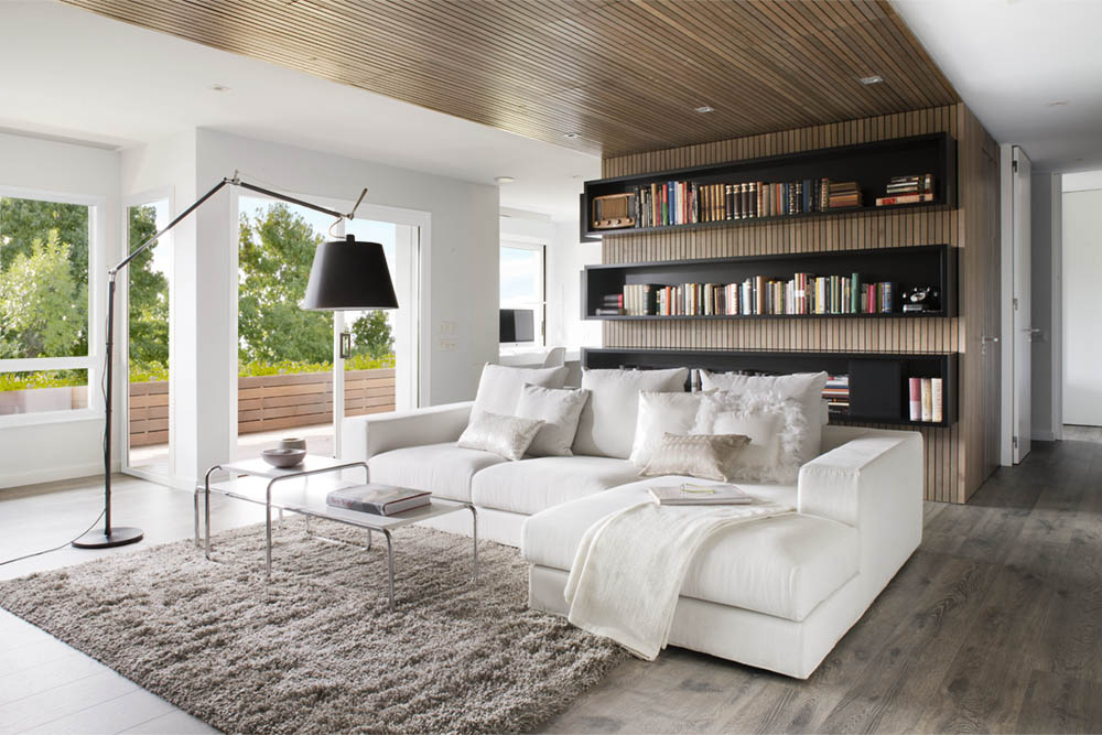 Apartment: Apartment Contemporary Design With White Living Room ...