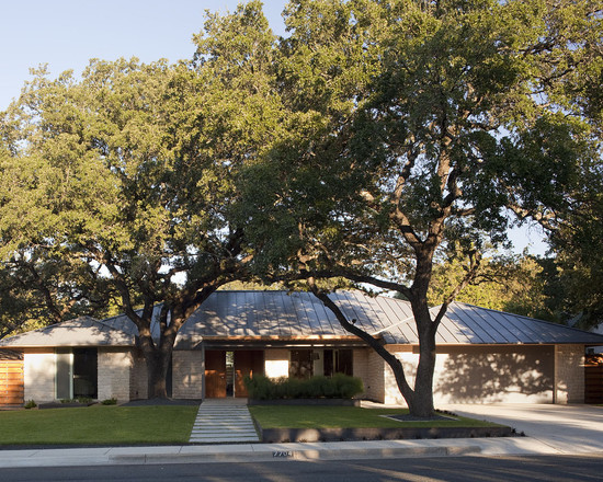 Contemporary Exterior With Large Garage And Open Landscape Also Ranch House Curb Appeal
