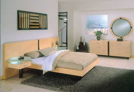 Fresh Bedroom Inspiration With Yellow Bed Platform Also Yellow Cupboards Plus Black Rugs