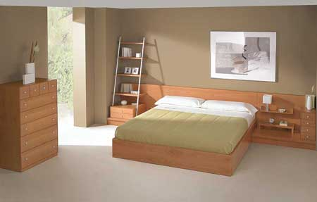 Golden Bedroom Inspiration With Wooden Furniture And Gloden Bedding