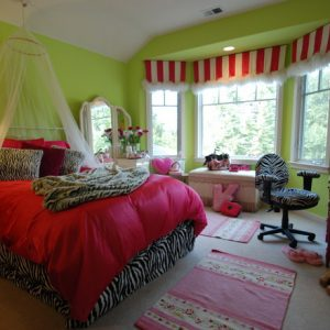 Kids Bedroom Decor With Zebra Room Accessories And Pink Bedding Also Pink Rugs