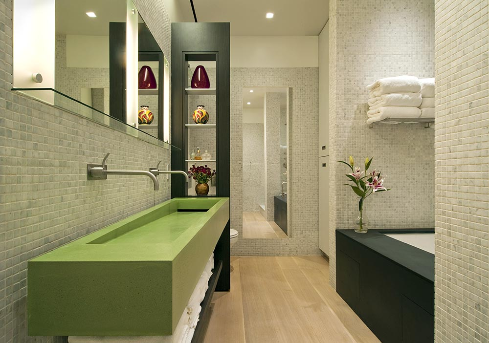 Lovable Modern Loft For Modern People Like You: Master Bedroom Design With Green  Theme Using
