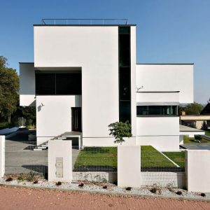 Modern Architecture And Modern Exterior Using Stucco Wall And Glass Exterior Ideas