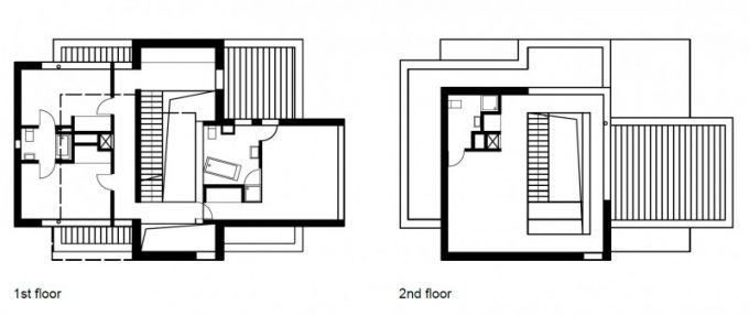 Modern Interior Of First And Second Floor Master Plan