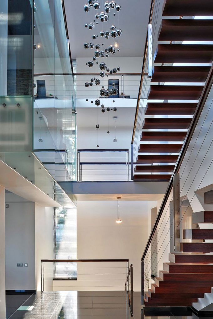 Modern Interior Of Modern Three Story Building House Design