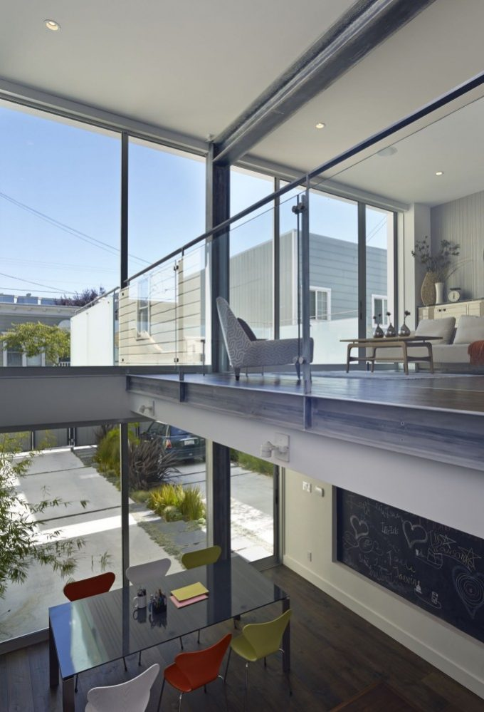 Modern Interior With High Ceiling And Massive Glass Walls Also Sunroom Design