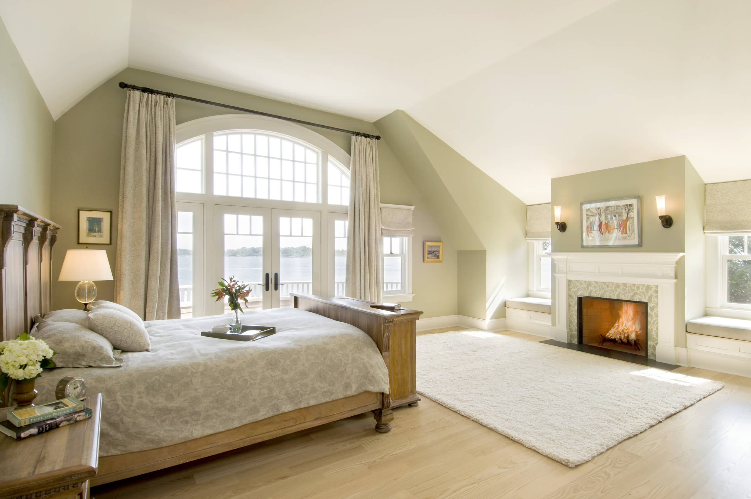 Master Bedroom Ideas With Fireplace architecture: master bedroom ideas with light wood flooring plus