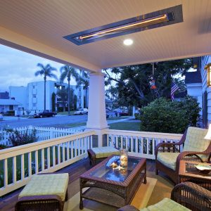 Seat Cushions For Woven Outdoor Furniture Plus Woven Glass Coffee Table In Traditional Porch With Railing And Wall Sconce Also Infratech For Ceiling Lighting For Exterior Ideas