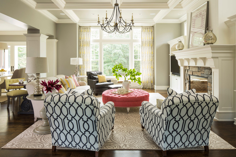 Decorating Captivating Round Tufted Ottoman In Outstanding Living