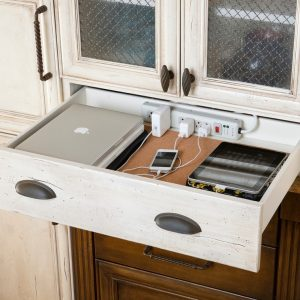 Cabinet Storage Plus Phone Charging Station Also Glass Cabinets With Hidden Charging Station In Traditional Kitchen Plus Kitchen Cabinet With Painted Cabinet And Drawers