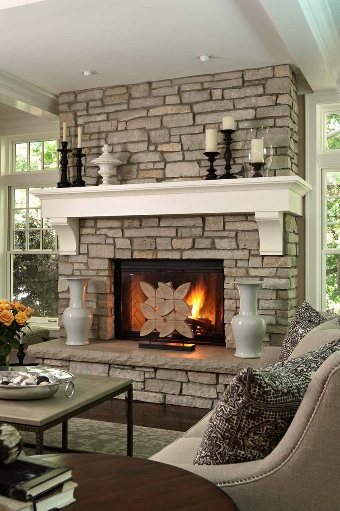 Decorating: Decorating Living Room With Fireplace Mantles Design ...
