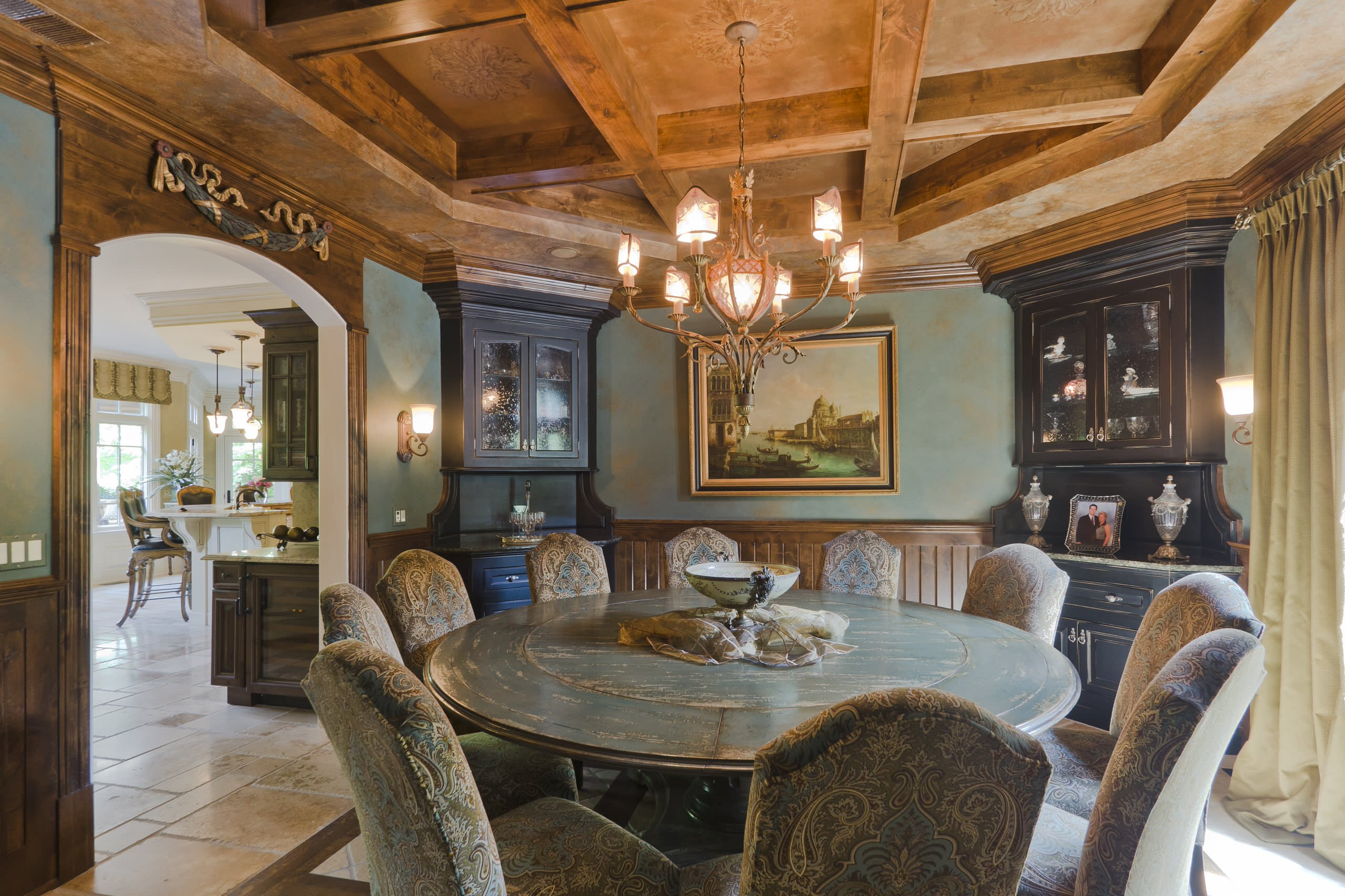 decorating captivating layout chandelier with coffered ceiling