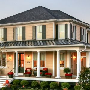 Exterior Design With Porches And Front Stoop Ideas Plus Wood Deck With Front Entry Door And Outside Lights Also Patio Furniture With Columns And Exterior Paint
