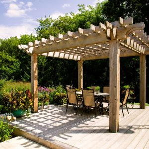 Inspiring Arbour With Carpentry And Cedar Deck Plus Garden Ideas Also Patio Furniture With Outdoor Dining And Perennial Garden For Pergola Ideas With Softscaping In Backyard