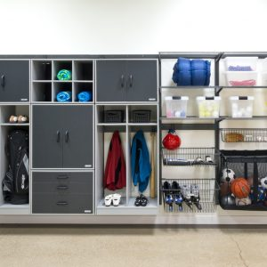 Inspiring Garage Cabinets In Traditional Garage And Shed With Garage Storage And Organization Systems Also Shelving System With Storage For Garage And Storage Solutions