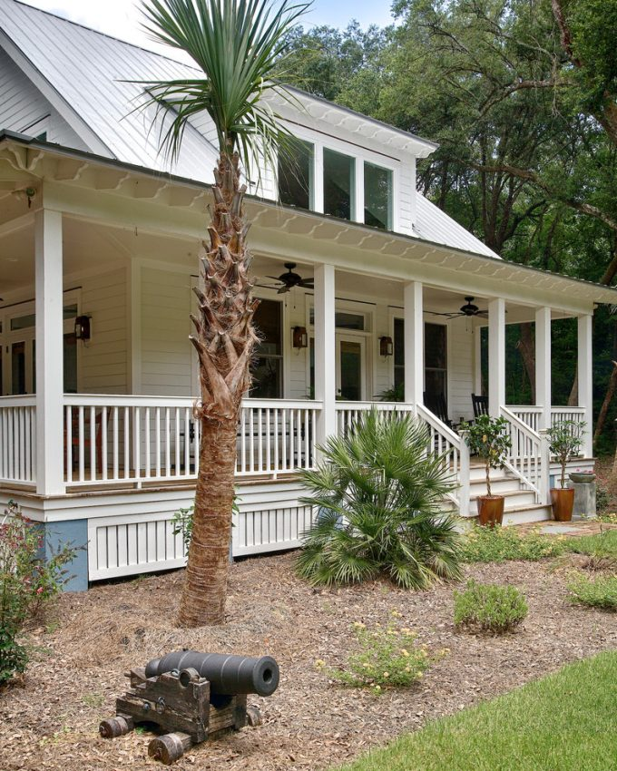 Landscaping Design Ideas With Porches And Porch Railings Plus Front Stoop Design And Wood Siding With Exterior Paint Colors Also Ceiling Fans With Exterior Lighting