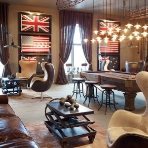 Marvelous Pendant Lighting And Restorationhardware With Egg Chairs And Brown Leathern Sofa Plus Coffee Table Designs Also Barn Floor Lamp With Frame Flags For Wall Decor And Pool Table