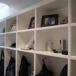 Traditional Hall Plus Phone Charging Station And Cubby Wall Organizer Also Phone Docks Plus Medicine Cabinets With Electrical Outlets In Front Closet Also Open Shelves For Display