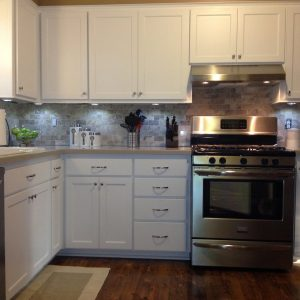 Traditional Kitchen Plus Refacing Kitchen Cabinets For Kitchen Remodeling With Inspiring Backsplash Plus Ogee Slab Drawer Fronts And Raised Thermofoil One Piece Shaker Door Also Under Cabinet Lighting