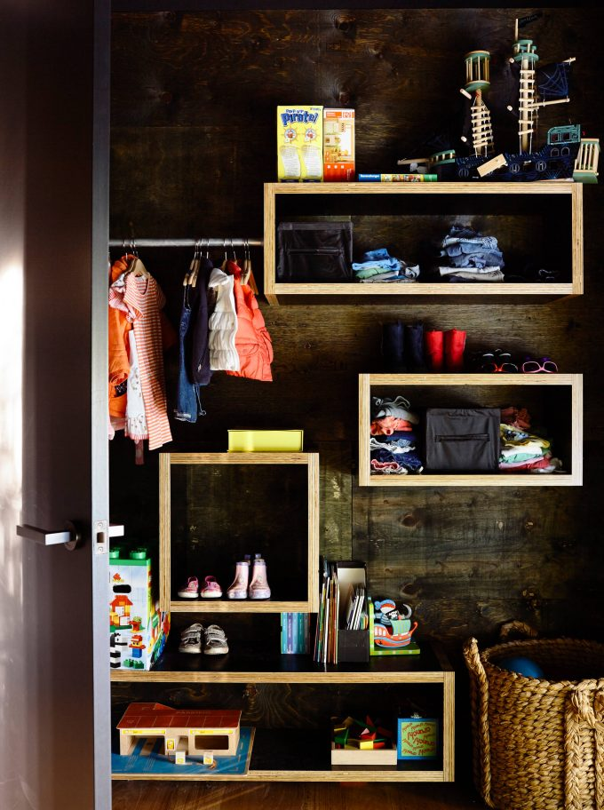 Baby Closet Plus Baby Shoe Storage And Storage Boxes With Contemporary Shelving Also Recycled Timber Plus Wall Mounted Shelves And Wicker Laundry Basket With Modern Interior Door